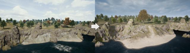 Diverse Veränderungen des Geländes